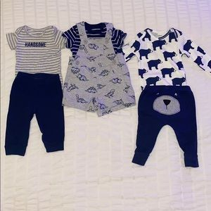 3 baby boy outfit bundle
